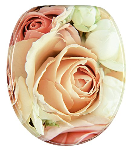 WC Sitz, hochwertige Oberfläche, einfache Montage, stabile Scharniere, Rosa Rose