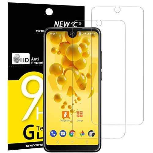 NEW'C 2 Stück, Schutzfolie Panzerglas für Wiko View 2, Frei von Kratzern, 9H Festigkeit, HD Bildschirmschutzfolie, 0.33mm Ultra-klar, Ultrawiderstandsfähig