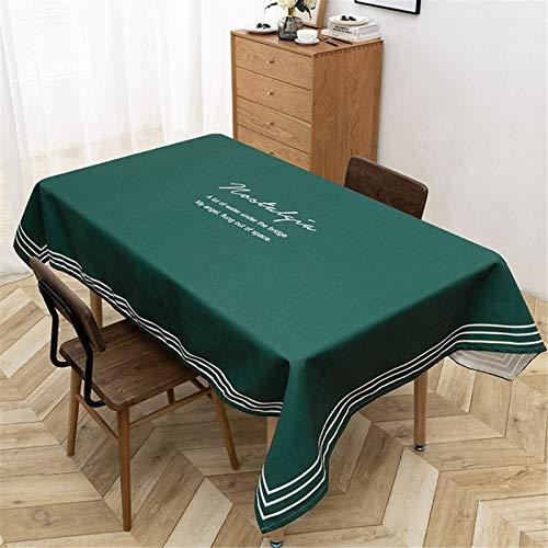 Mantel Rectangular De Poliéster Impermeable para El Hogar, Mantel Redondo, Camino De Mesa, Hotel, Restaurante 140x200cm