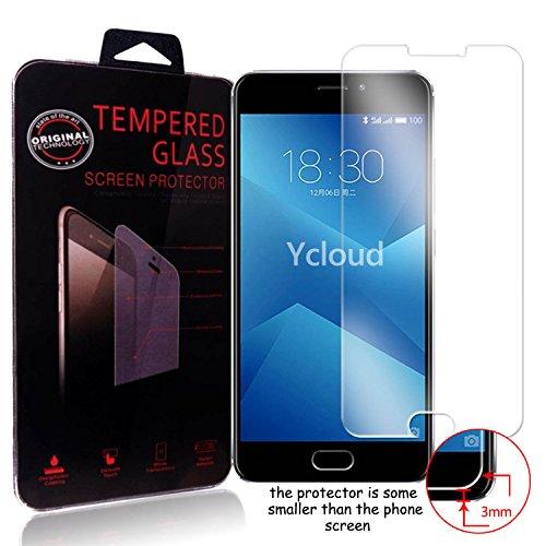 Ycloud Panzerglas Folie Schutzfolie Bildschirmschutzfolie für Meizu M5 Note screen protector mit Festigkeitgrad 9H, 0,26mm Ultra-Dünn, Abger&ete Kanten