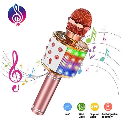 ATOPDREAM Geschenke für Mädchen ab 4-12 Jahre, Karaoke Mikrofon Spielzeug Mädchen 4-12 Jahre Geschenke für Kinder 6 7 8 9 10 Jahre Spielzeug 4-12 Jahre Junge Geschenke Jungen 4-12 Jahre