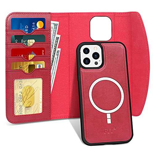 FYY Designed for iPhone 13 Pro Max 5G Case, [Support Magsafe Charging] 2-in-1 Magnetic Detachable Wallet Phone Case with Card Holder...
