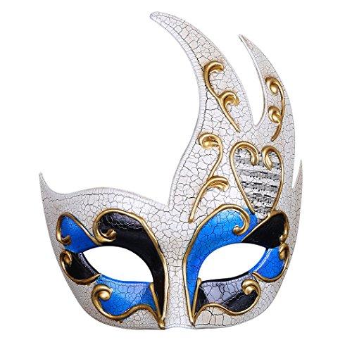 Funpa Venetiaans masker voor heren creatief oogmasker van de partij Venetiaans masker Blauw.