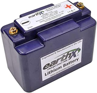 EarthX ETZ14C Lithium Ion Battery w/BMS for Snow Mobiles and Motorcycles - 2.5 Pounds 330CCA 6.8Ah - Fits Polaris, Ski Doo BRP, Yamaha and Arctic Cat Models - Made in USA
