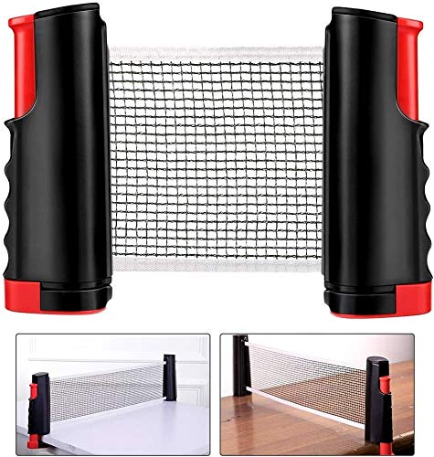 Buy Ping Pong Net, Retractable Table Tennis Nets Replacement Adjustable Any Table Portable Travel Ho...