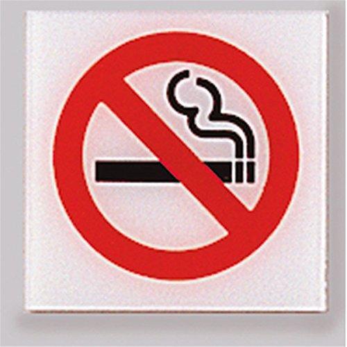 Garcia de Pou Roken Zelfklevend Bord, 12 x 12 cm, Methacrylaat, Wit, One Size