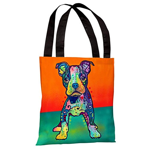 One Bella Casa 71866TT18P 18 in. On My Own Polyester Tote Bag by Dean Russo