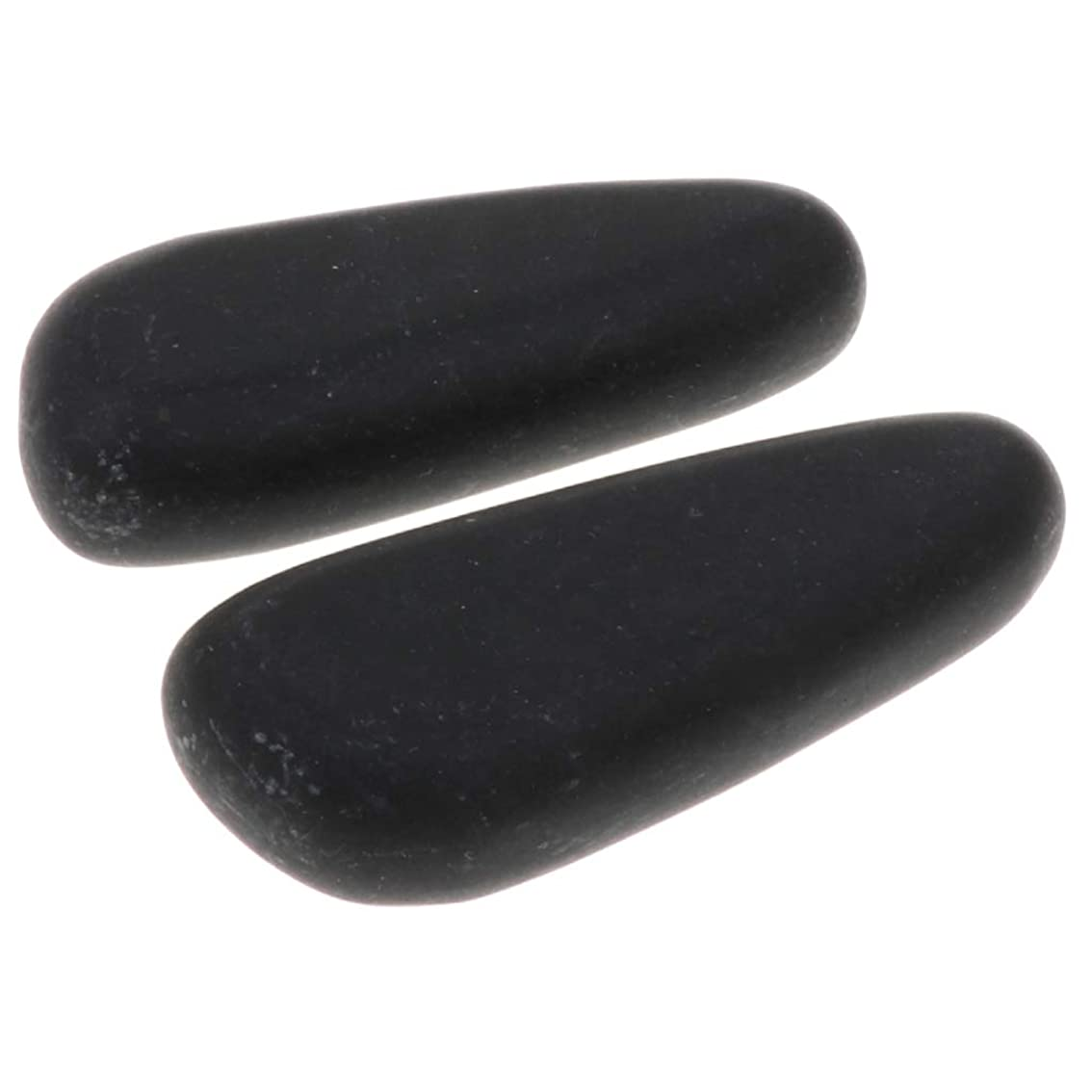 過剰処分したトレースFenteer 全2サイズ ホットストーン マッサージ石 マッサージストーン 玄武岩 ボディマッサージ スパ 2個入 - 8×3.2×2cm