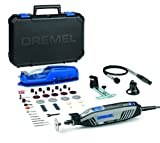 Dremel 4300 Rotary Tool 175W, Multi Tool Kit with 3 Attachments, 45 Accessories and Front LED Light, Variable Speed 5000-35000RPM for Cutting, Carving, Cleaning, Sanding, Engraving, Grinding