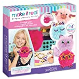 Make It Real - CuddleMob. DIY Pom Pom Characters Arts and Crafts Kit for Girls. Create Unique Plush Characters for Home Play, or to Attach to Kids' Backpacks or Purses