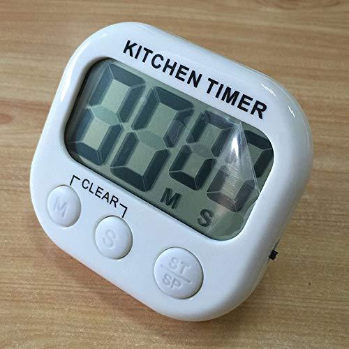 XGQ Digital Temporizador de Cocina Alarma electrónica Soporte magnético con Pantalla LCD for cocinar Hornear Juegos Deportivos Oficina (Naranja) (Color : White)