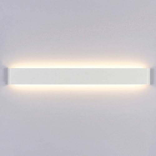 Yafido Applique Murale Interieur LED 90CM Lampe Murale 30W Blanc Chaud 3000K Luminaire Mural Moderne pour Chambre Sal...