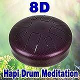 8D Audio Hapi Drum Meditation (Use Headphones) (The Pure Asian Hapi Drum, Zendrum, Aistdrum, Steel Tongue Drum, Rav, Tank Hank Drum, Kaizen Drums & Aqua Drum Sound)
