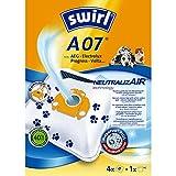 Swirl A07 NeutralizAir Staubsaugerbeutel für AEG Staubsauger, 4 Beutel + 1 Filter