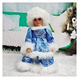Christmas Doll Christmas Santa Claus Electric Dolls Toy Decoration with Music Dance Birthday Gift for Kids New Year Navidad Home Ornaments (Color : Girl Doll F, Size : 30cm Height)