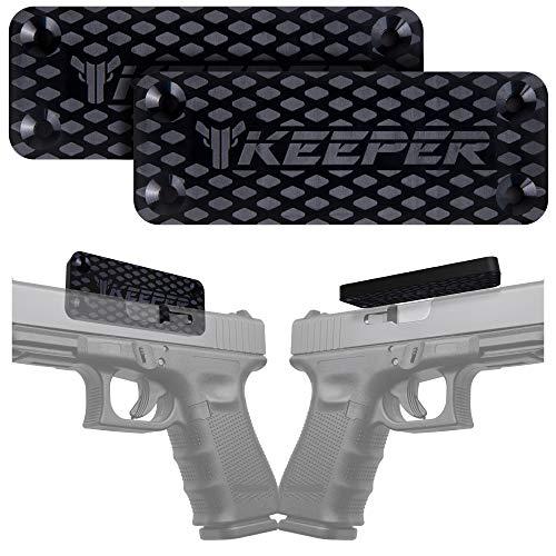Magnetic Gun Mount & Holster for Vehicle and Home - HQ Rubber Coated 35 Lbs - Gun Magnet Firearm Accessories. Concealed Holder for Handgun, Rifle, Shotgun, Pistol, Revolver, Truck, Car, Safe (2-Pack)