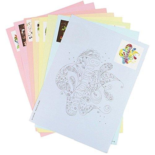 Juego de 16 diferentes patrones de papel para hacer dibujos.