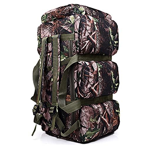 FGJH Mochila de camuflaje de gran capacidad de 90 l para alpinismo al aire libre, bolsa de transporte, mochila para tienda de campaña 806 (color: 02, tamaño: 75 x 38 x 36 cm)