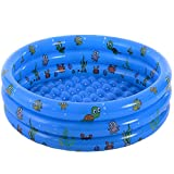 VIVI MAO Garden Round Inflatable Baby Swimming Pool, Portable Inflatable Child/Children Little Pump Pool,Kiddie Paddling Pool Indoor&Outdoor Toddler Water Game Play Center for Kids/Girl/Boy