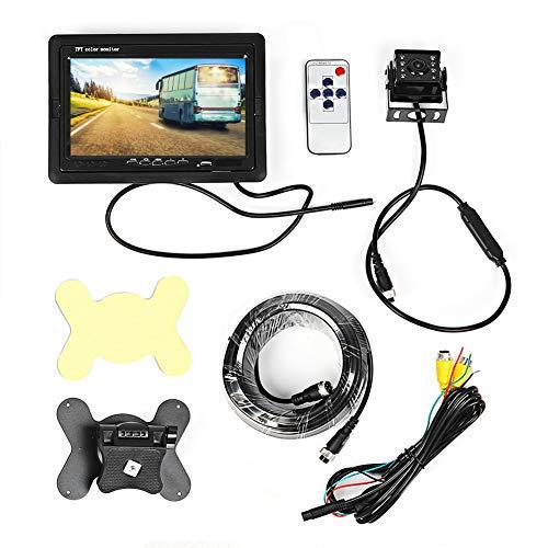 KIMISS Auto Monitor, 7in AHD 1080P Universalrücküberwachungs wasserdichte Nachtsicht Autofahren Recorder Kamera