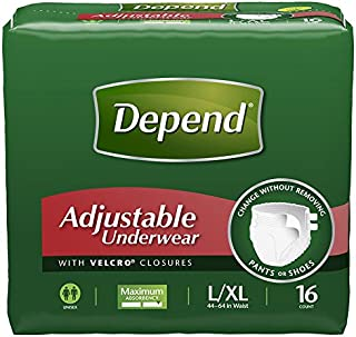 Best depend adjustable underwear maximum absorbency l xl 48 count Reviews