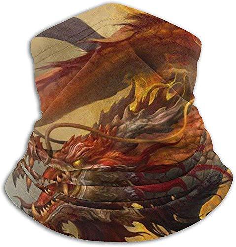 Hey Judey Chinesische Himmelsfliege Burning Fire Dragon Loong Fleece Nackenwärmer Winddicht Winter Nackenschutz Kaltes Wetter Gesichtsmaske