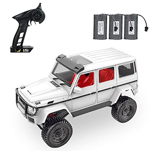 Festnight MN-86 RC Car 1/12 2.4GHz Off Road Car 4WD RC Truck Toy con Faro para Adultos Niños con 3 baterías
