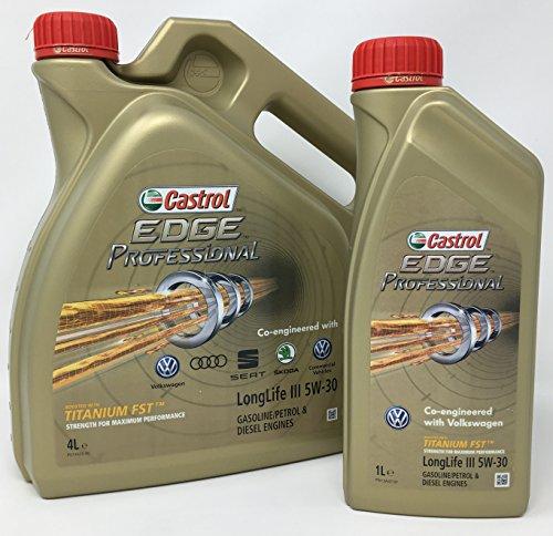 Castrol Aceite para Motor Edge Professional LongLife III 5W-30, 5 litros (Nuevo envase 2018)