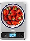 Bilancia Da Cucina Digitale, HOMEVER 15kg Bilancia Per Cucina Alimenti Elettronica in Acciaio Inossidabile Pannello 9*6.3in, Ad Alta Precisione 1g LCD Display Tara Funzione Facile Da Pulire 2 Batterie