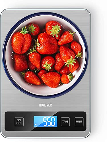 Digital Kitchen Scales, HOMEVER Food Scale 15kg Weighing Scales Kitchen For...