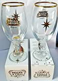 Stella Artois 33cl glass 2016 Holiday Limited Edition Set of 2