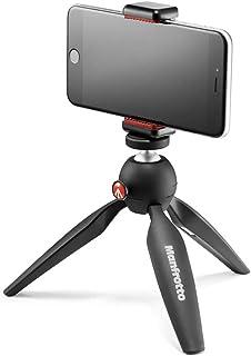 Manfrotto MTPIXI-B PIXI mini-statief, zwart, Black Tripod Kit met universele smartphone klem, Manfrotto Black Phone, Tripo...