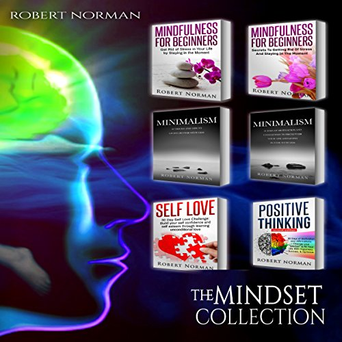 Minimalism, Mindfulness for Beginners, Self Love, Positive Thinking: 6 Books in 1! audiobook cover art
