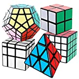 COOJA Cubo Mágico Pack, Speed Magic Cube 2x2x2 + 4x4x4 + Pyraminx +...