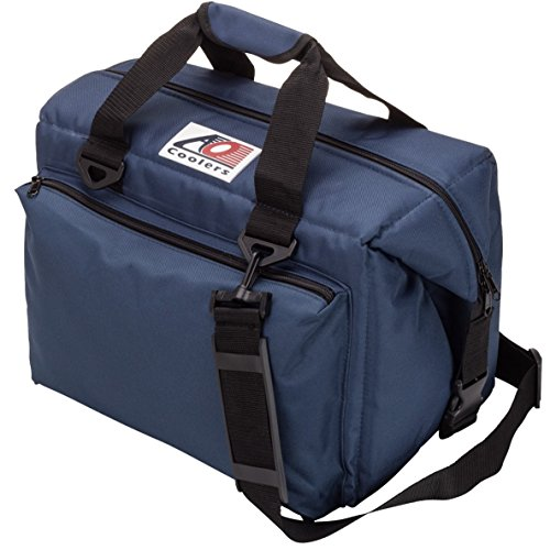 AO Coolers Traveler Original Soft Cooler with High-Density Insulation, Navy, 24-Can