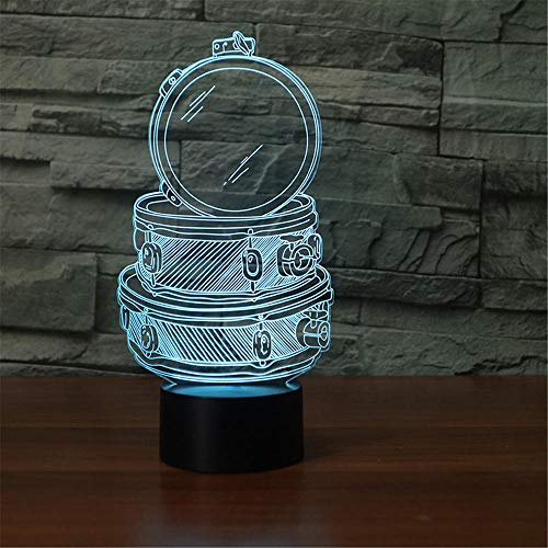 3D-lamp bedrukt tafelkleed, ledverlichting, 7 kleuren, USB-opladen, decoratief led-nachtlampje, touch-bediening, decoratie voor de slaapkamer
