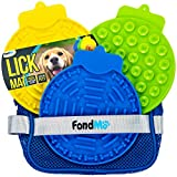 FondMo Lick Mat for Dogs, Dog Lick Pad 3PCS with A Storage Bag, Peanut Butter for Dogs for Bath and Shower, Slow Feeder Dog Licking Mat, Dog Anxiety Relief, Yogurt Plain, Lick Mat for Dog Nail Polish