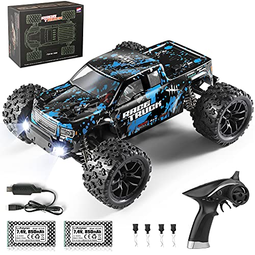 HAIBOXING RC Cars 1 18 Scale 4WD Off-Road Monster Trucks with 36+KM H High Speed, 2.4 GHz Remote-Controlled Electric All Terrain Waterproof Vehicles with Rechargeable Battery for Kids and Adults RTR