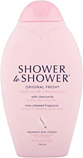 SHOWER TO SHOWER Body Powder Original Fresh 13 oz (Pack of 4)