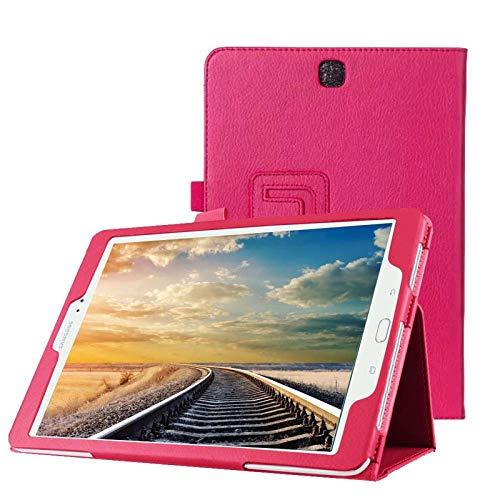 Hülle für Samsung Galaxy Tab A SM-T550 T551 T555 9.7 Zoll Schutzhülle Etui Tablet Tasche Smart Cover (Pink) Neu