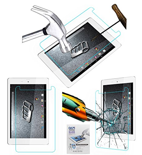 Acm Tempered Glass Screenguard Compatible with Micromax Canvas Tab P666 Tablet Screen Guard Scratch Protector
