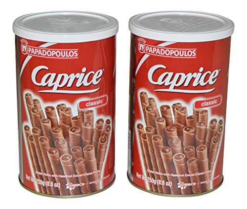 Papadopoulos Caprice Wafer Rolls 8.8oz pack of 2 (Classic)