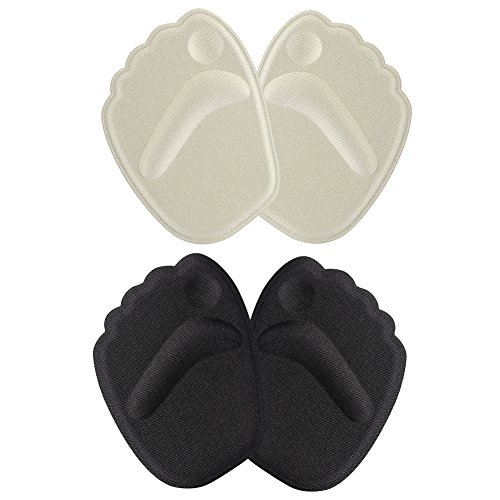 GLOGLOW Thick Ball of Foot Cushions, 2 Pairs Anti-Slip Gel Metatarsal Foot Pads Blister Prevention & Improve Shoes Too Big for Women Foot Care Tools