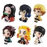 Set of 6 Figures, Zenitsu Inosuke Tanjiro Nezuko Kyoujurou Anime Stuff Figures Toys, Fan Collections for Kids, Children, Christmas