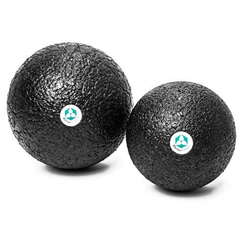 Preisvergleich Produktbild DoYourFitness 2X Faszienbälle (8cm & 10cm Durchmesser) »BlackCat« / idealer Massageball zum Faszientraining & zur Selbstmassage