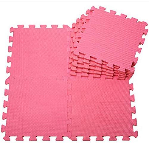 WZHIJUN Tapis de jeu Portable Enfant Doux Tapis Bébé Tapis de Mousse avec Bandes Latérales 30 Tuiles (Color : Red, Size : 10pcs Pack)