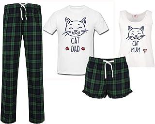 60 Second Makeover Limited Cat Mum Cat Dad Couples Matching Pyjama Tartan Set Couples Pet Pajamas