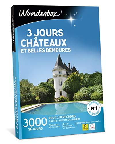 Wonderbox - Coffret cadeau séjour - 3 JOURS CHÂTEAUX ET BELLES DEMEURES - 3000 séjours de prestige