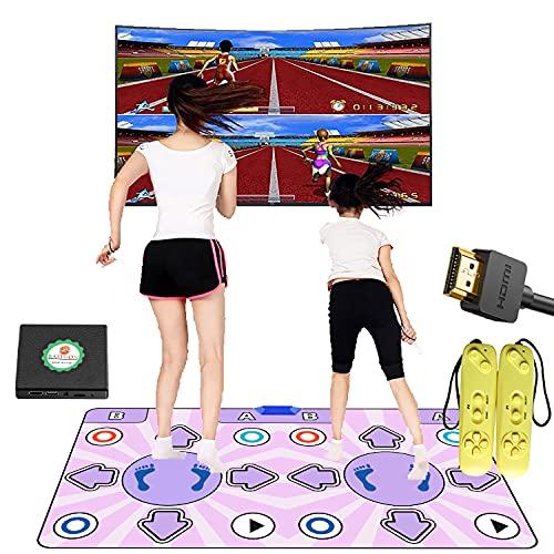 Alfombrilla de danza para TV con interfaz HDMI, antideslizante, doble almohadilla de danza inalámbrica con manual en inglés, juego de música de baile para niños y niñas de 6 a 13 años de edad
