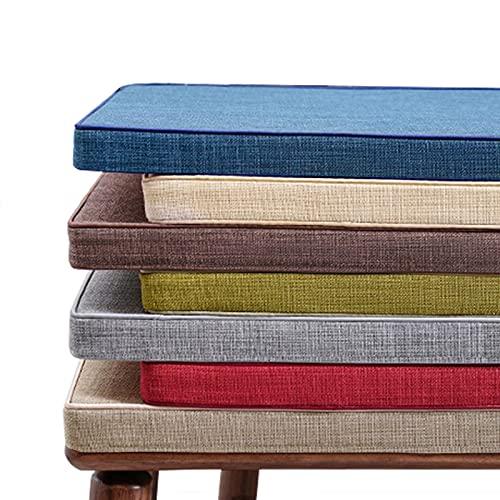 Deulxt EU Cojín para banco de 2 plazas para interiores y exteriores, 3/5 cm, cojín largo para silla de banco, cojín para comedor o casa (120 x 40 x 3 cm), color verde